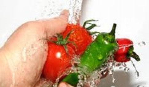 higienização de alimentos