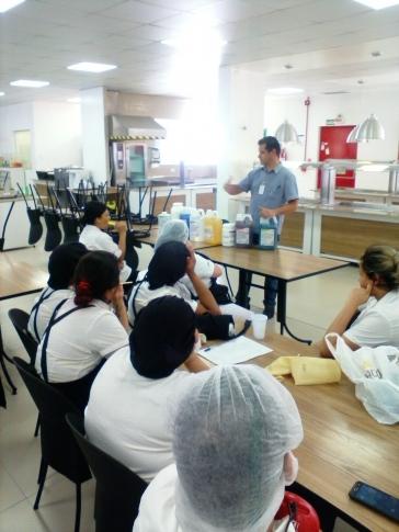 Treinamento de Cozinha aplicado em nosso cliente.