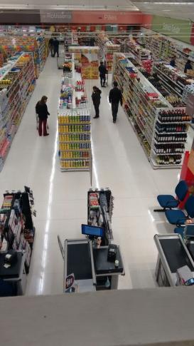 Tratamento de Piso Cliente Supermercado em Curitiba