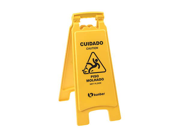 Placa sinalização piso molhado